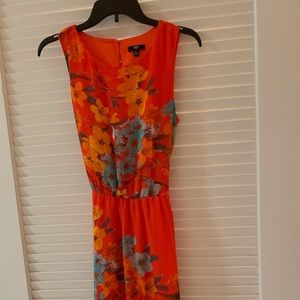 Lovely Floral-Patterned Summer Dress, Size 6